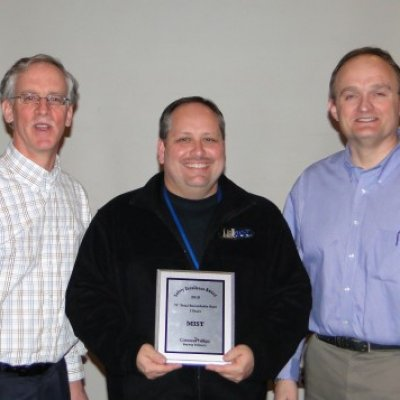 Receiving Safety Award for 2010 ConocoPhillips Bayway Refinery from Ray Wuertz (left) and Jim Smith (right)