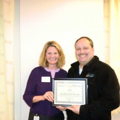 Receiving 2010 Sunoco Safety Award from Anne-Marie Ainsworth (Senior Vice President of Refining)