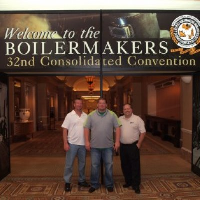 Mike, Joe & Rich at the entrance to the Convention