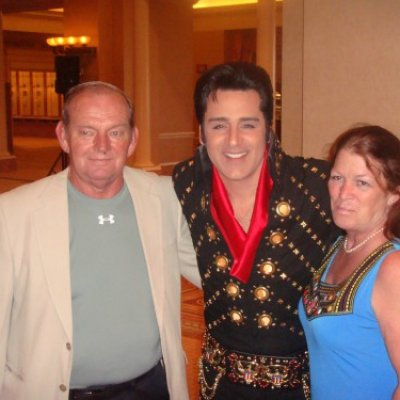 Jim & Debbie with Elvis? at the Convention Banquet