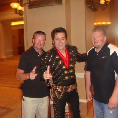 Joe & Mike with Elvis at Convention Banquet