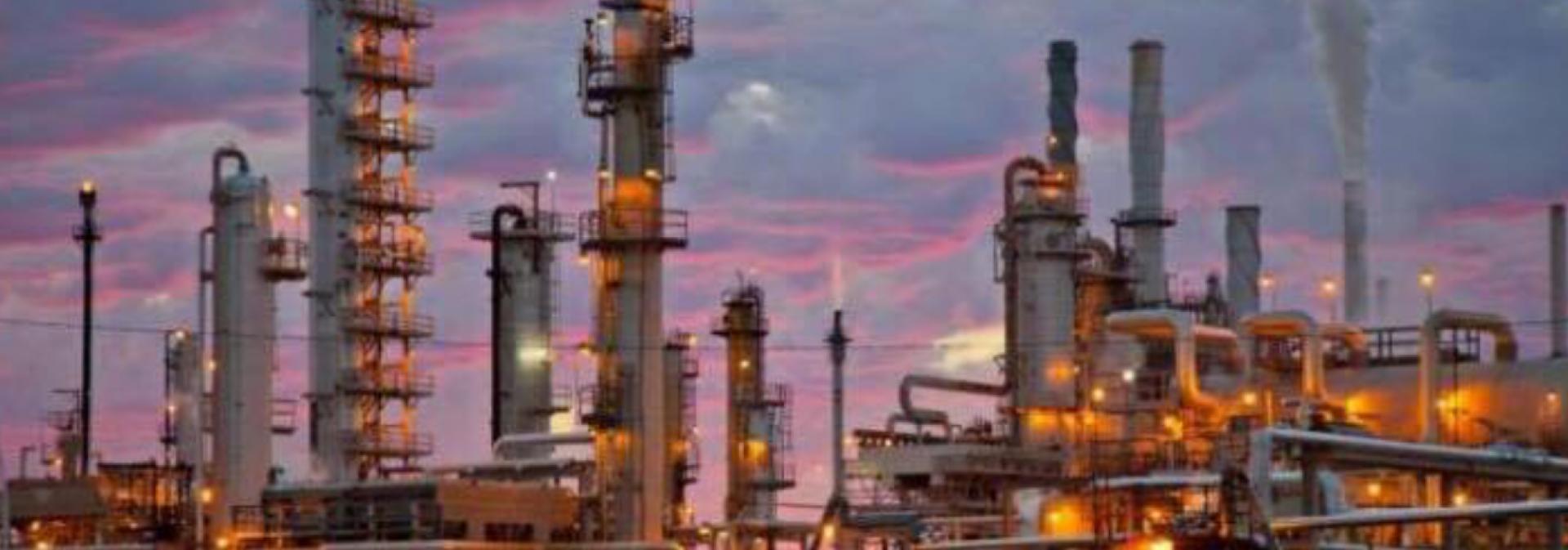 Refinery night